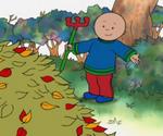 Caillou râtelle les feuilles