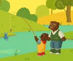 Petit Ours brun va à la pêche