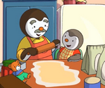 T'Choupi fait de la pâtisserie